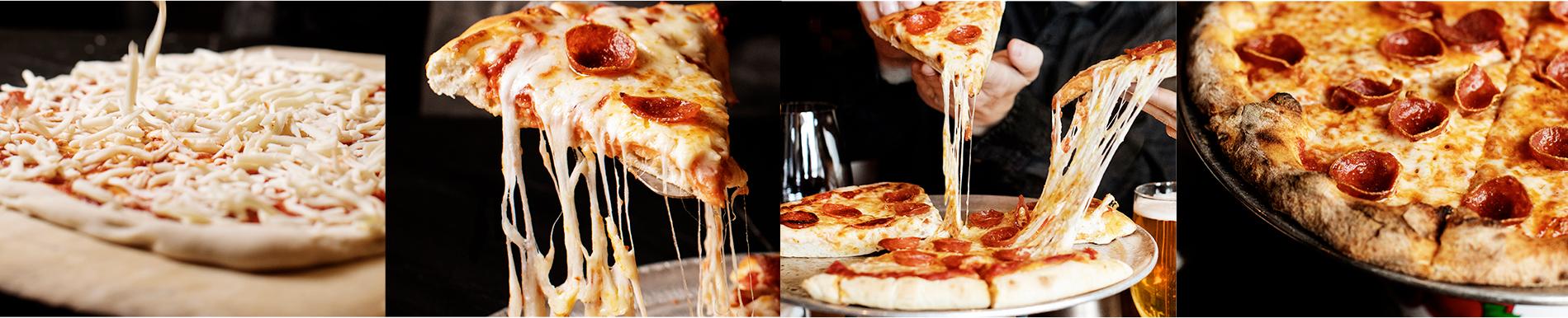 photos of pizzas that use Bacio pizza cheese