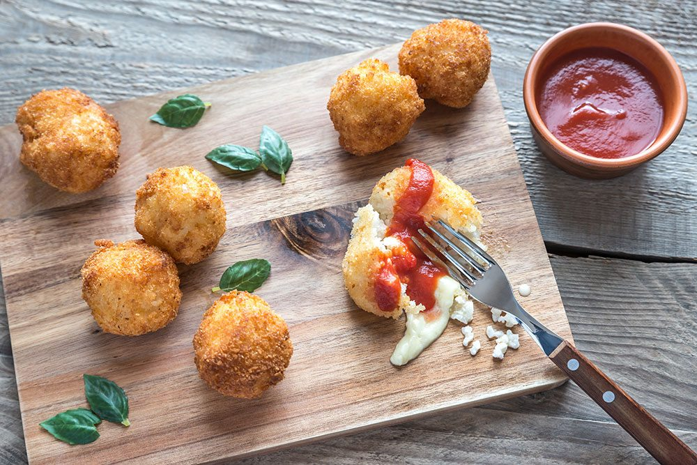 Prosciutto and Arancini