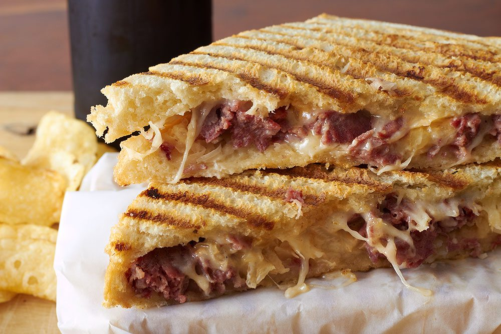 Pulled Pork Panini with Pickled Red Onions
