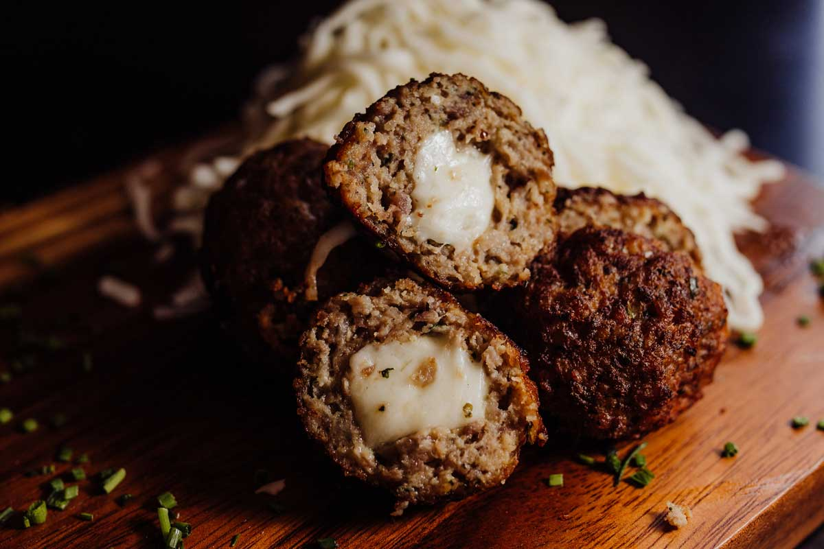 Cheese Stuffed Italian Meatballs
